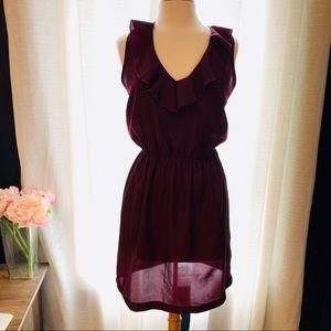 5/48 Sleeveless MiniDress Purple/magenta L